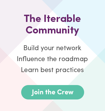Iterable Community Promotion. Click here to join the Iterable Community.